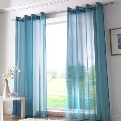 Teal Eyelet Voile Curtain Panel Tony S Textiles Tonys