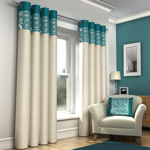 Skye Ring Top Lined Eyelet Curtains Teal Tony 39 S Textiles Tonys Textiles